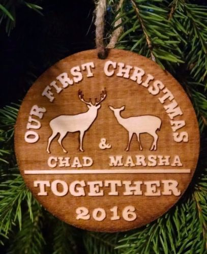 Our First Christmas Together Ornament Doe And Buck Personalized