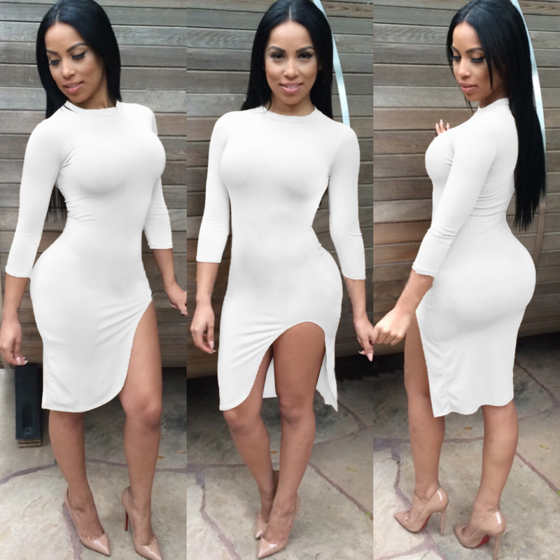 New 2015 Women Party Dress Fashion Sexy Package Hip Dresses O-neck ... 8d0487c43