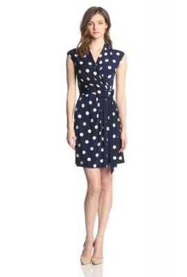 6458a92d90f46 Eliza J Women's Cap Sleeve Polka Dot Wrap Dress