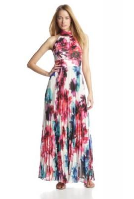 5b98a80d779b9 Eliza J Women's Halter Pleated Maxi Dress