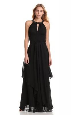 6d3a9809ed7d2 Eliza J Women's Sleeveless Beaded Keyhole Layered Dress