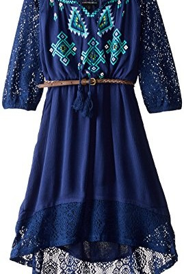 My-Michelle-Big-Girls-Peasant-Dress-with-Crochet-Sleeves-and-Hem-0