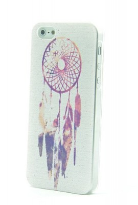Purple-Dreamcatcher-Aztec-Mayan-Pattern-Clear-Snap-On-Case-iPhone-5-5G-Plastic-Cover-INDIAN-feather--Screen-Protector-0